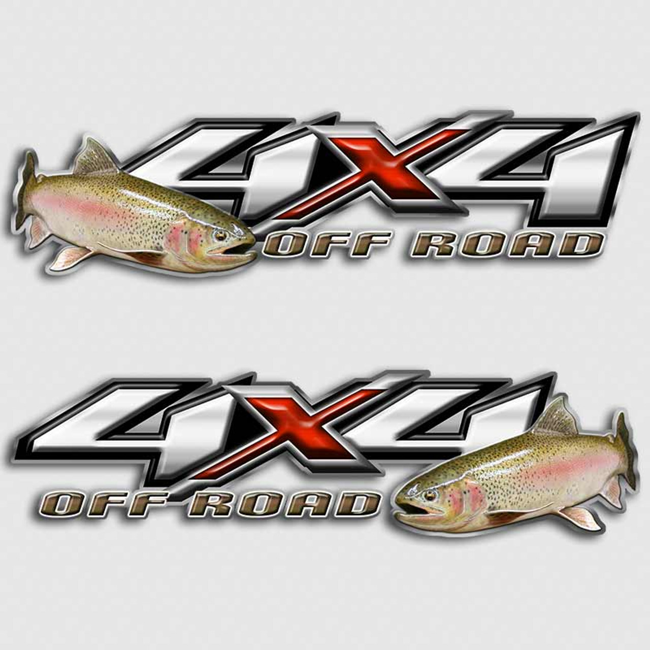 Rainbow trout fly fishing 4x4 chevy silverado truck decals for Fishing stickers for trucks