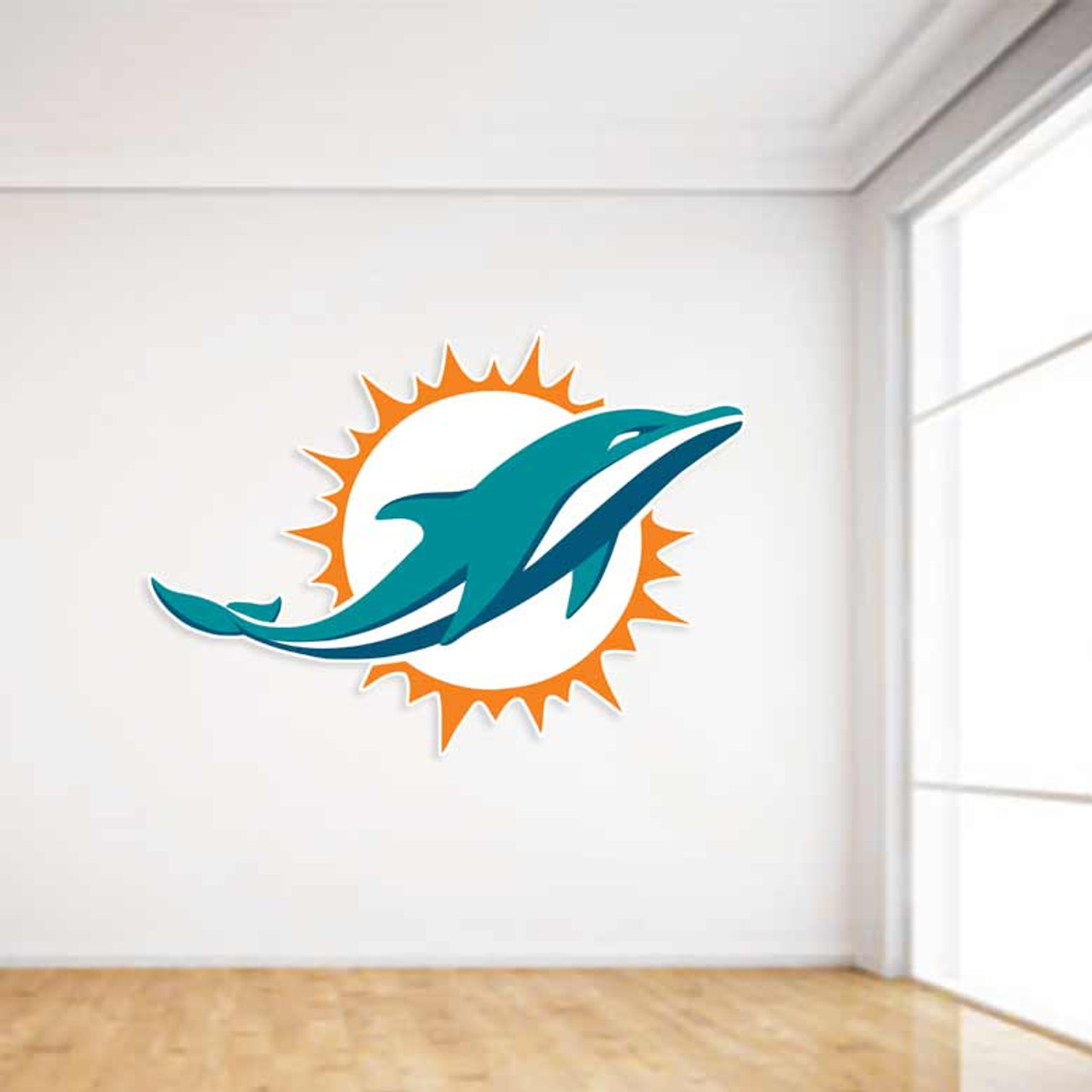 Miami Dolphins Football Wall Decal