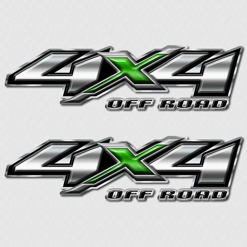 4x4 Green Hulk Silverado Off Road Truck Decals