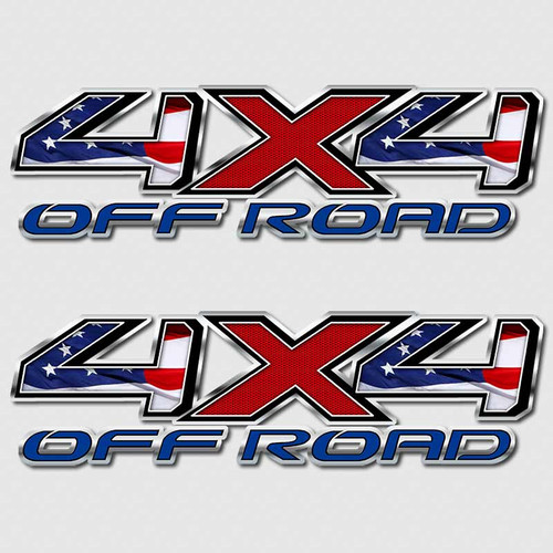 American Flag 4x4 Toyota Tundra Truck Decals