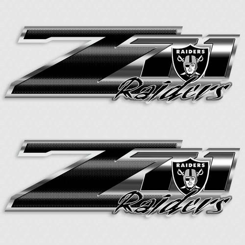 Z71 Oakland Raiders Football Truck Decals