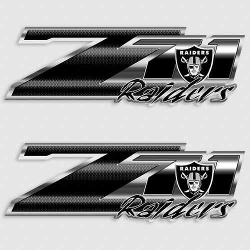 Z71 Oakland Raiders Football Truck Decals