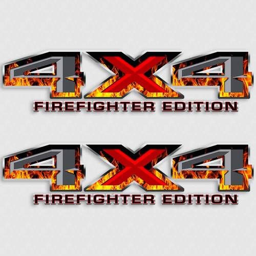 4x4 Ford Firefighter Edition Truck Decals