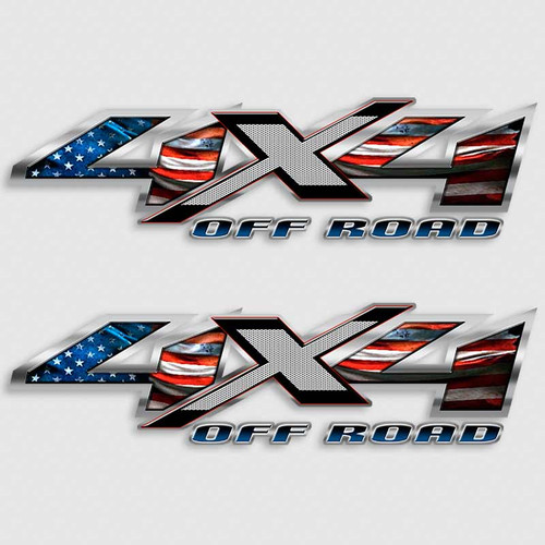 American Flag 4x4 USA Patriot Truck Decals
