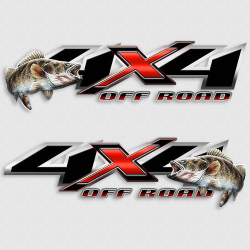 Walleye 4x4 Red Shadow X Truck Decals