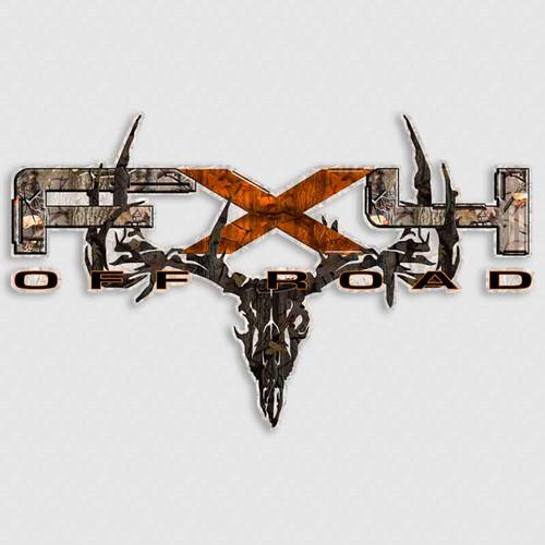 FX4 Camo Skull Orange F-150 Truck Decals