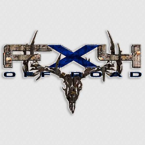 FX4 Camo Skull Blue F-150 Truck Decals