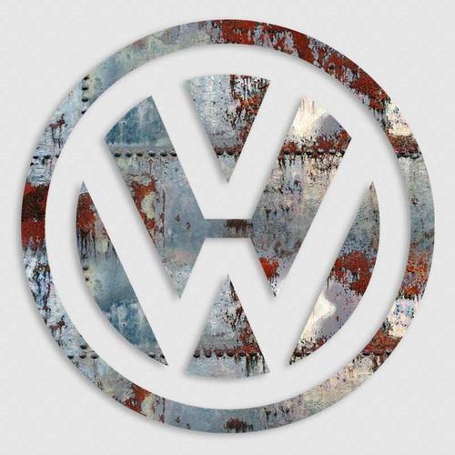 Volkswagon VW Vintage Steel Vinyl Decal
