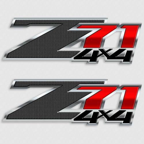 Z71 Carbon Fiber Edition 4x4 Decal Set
