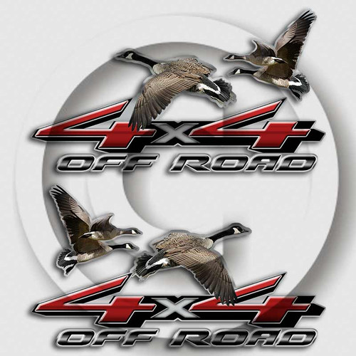 4x4 Canadian Geese Truck Decals