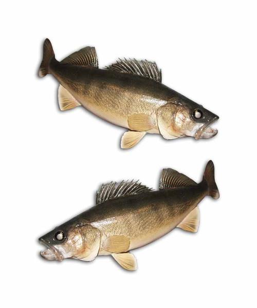 Walleye Dive Fishing Stickers