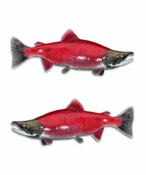 Sockeye Salmon Fishing Stickers