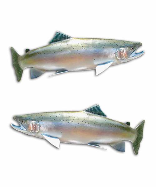 Steelhead Attack Fishing Stickers