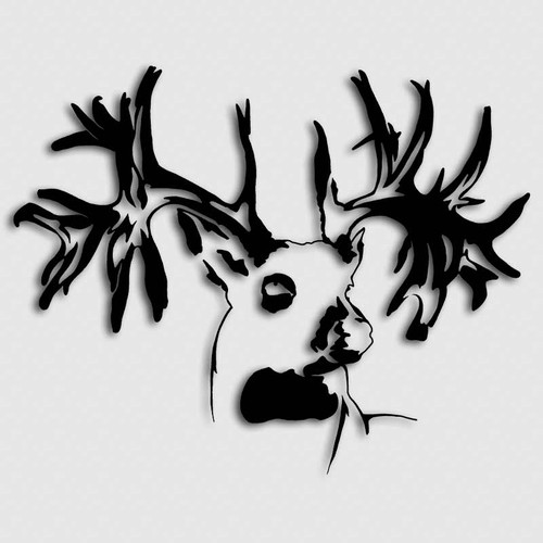 Whitetail Non Typical Buck Head Decal