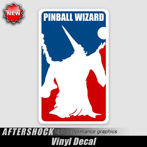Pinball Wizard Logo Sticker