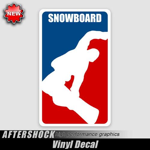 Snowboarding Logo Sticker