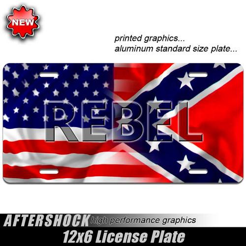 Rebel American Flag Plate