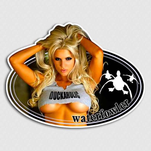 Duckaholic Big Rack Blonde Sticker