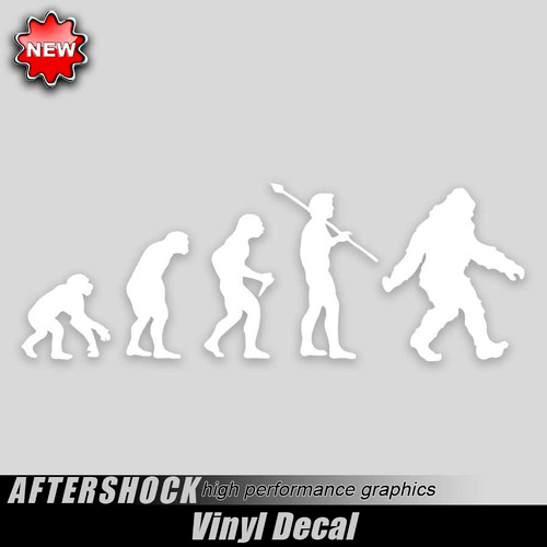 Bigfoot Evolution Sticker