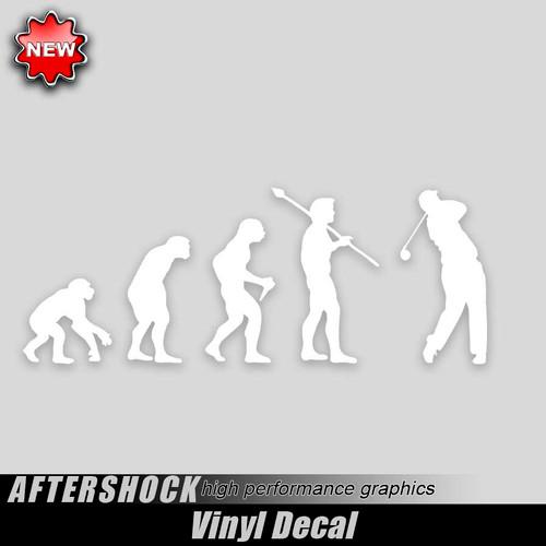 Golf Evolution Sticker