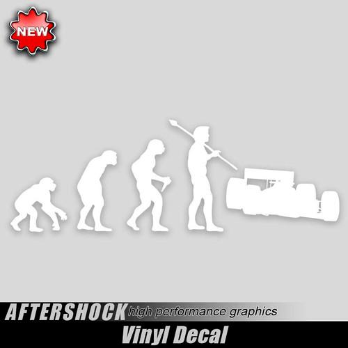 Indy Car Evolution Sticker