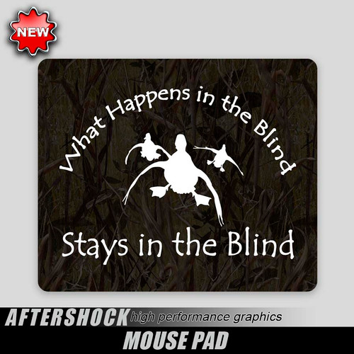 Duck Blind Humor Mouse Pad