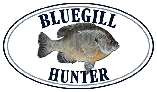 Bluegill Fish Hunter Sticker