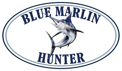 Blue Marlin Fish Hunter Sticker