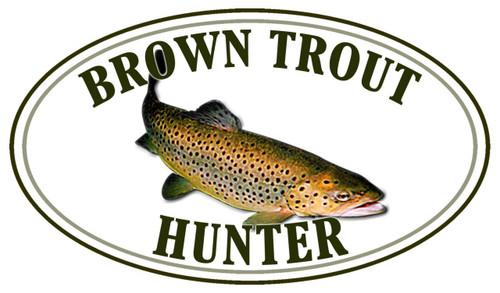 Brown Trout Fish Hunter Sticker