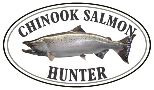 Chinook Salmon Fish Hunter Sticker