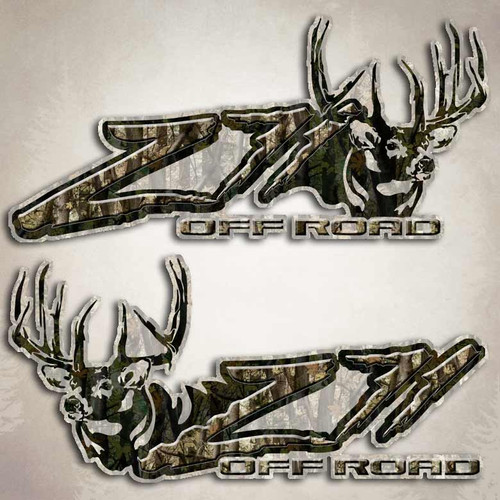 Z71 Camouflage Deer Off Road Decals
