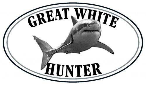 Great White Shark Hunter Sticker