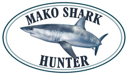 Mako Shark Hunter Sticker