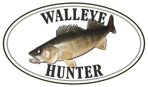 Walleye Dive Hunter Fish Sticker