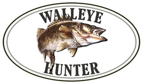 Walleye Hunter Fish Sticker