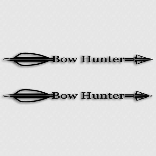 Bow Hunting Arrow Decal Set