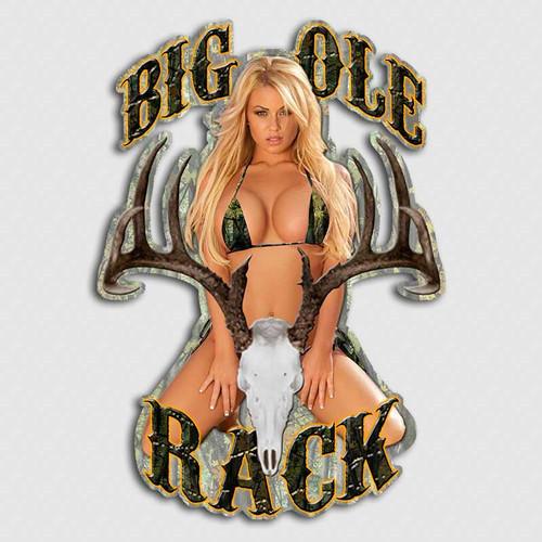 Big Ole Rack Bikini Girl  Deer Sticker