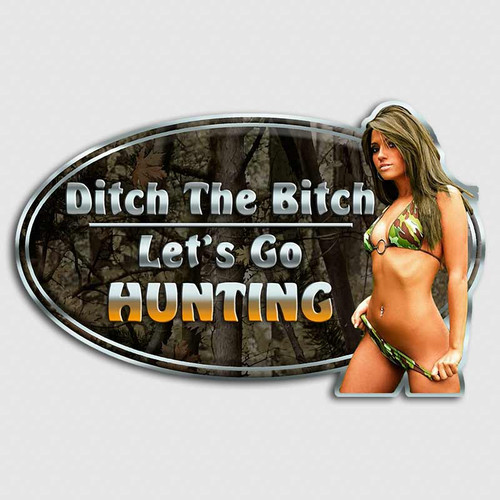Ditch the Bitch Bikini Girl Deer Sticker