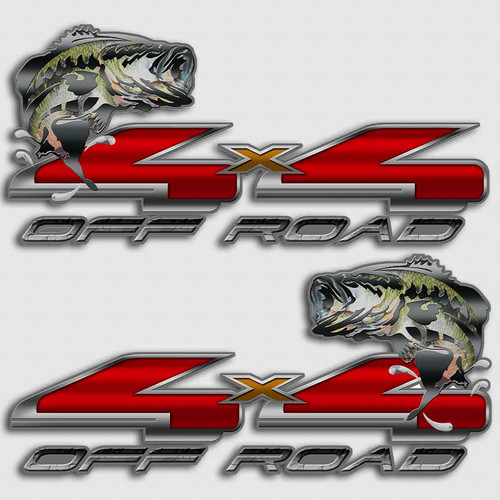 4x4 Platinum Bass Edition Ford Truck Decals