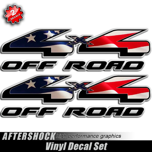 4x4 American Flag F-150 Decals