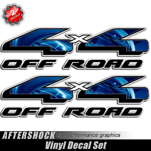 4x4 Electric Blue F-150 Decals