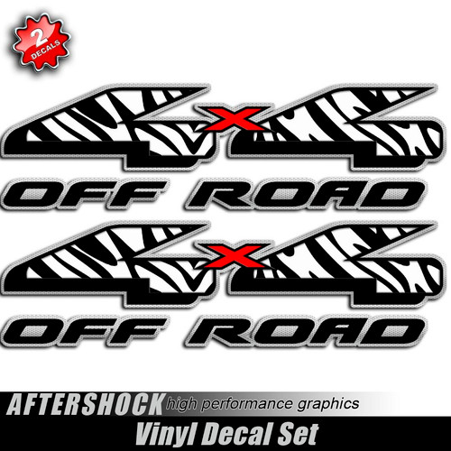4x4 African Zebra Off Road Decals