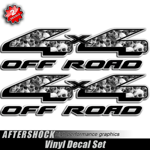 4x4 Skull Cemetary Style Decals