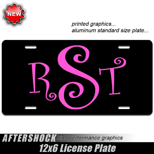 Monogram Vanity Plate (car or truck)