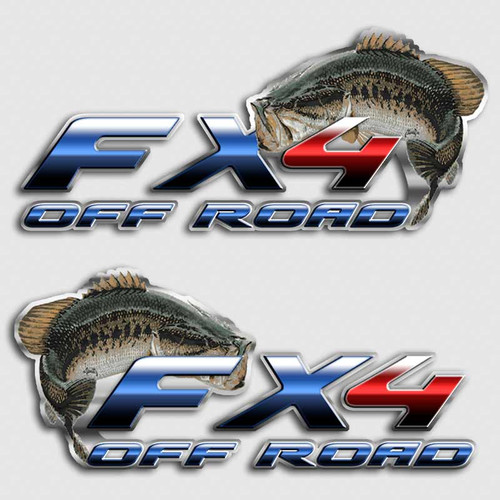 FX4 Bass Fishing Truck Decals