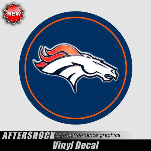Broncos Football Circle Decal