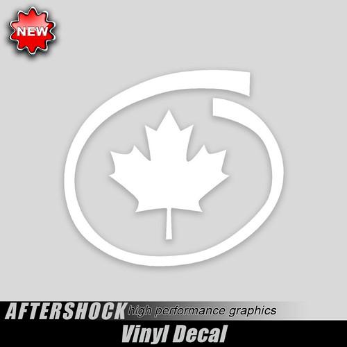 Canadian Maple Leaf Decal Inside Swirl