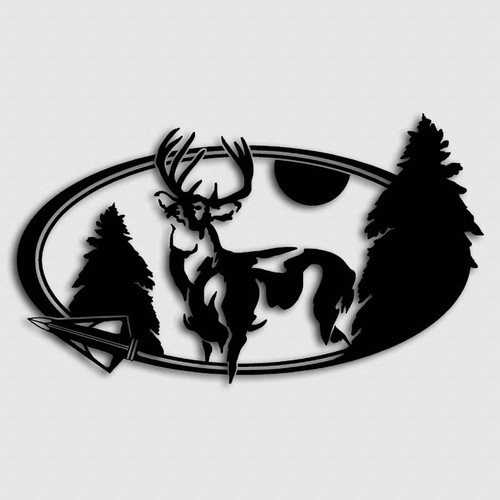 Broadhead Pine Buck Archery Decal