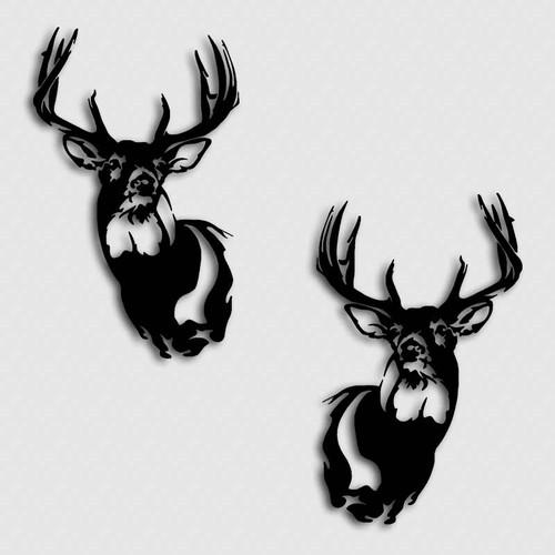 Whitetail Deer Stout Buck Decal Set