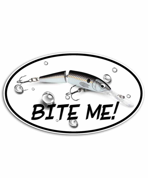 Bite Me Jointed Minnow Fishing Sticker